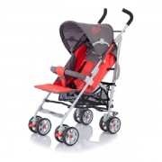 Коляска Baby Care «Polo», Dark/ Grey/ Red